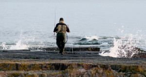 Fiske efter havsöring vid Prästens badkar
